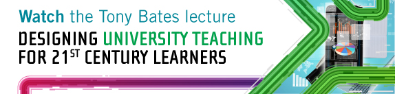 """Watch the Tony Bates lecture"" banner image"