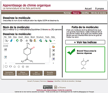 An online interactive tool to support learning of organic