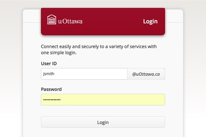 Screen capture of the Virtual Campus login page