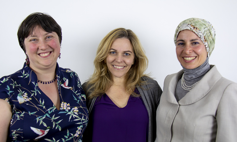 Picture of Professor Rebecca Tiessen with Professors Nadia Abu-Zahra and Emily Wills as co-applicants.