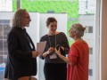 Picture of Richard Pinet, Centre for e-Learning TLSS, Lena Paterson of eCampus Ontario and Aline Germain-Rutherford, Associate Vice-President, Teaching and Learning